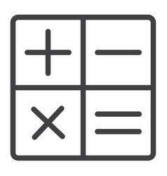 calculator line icon web and mobile calculate vector image