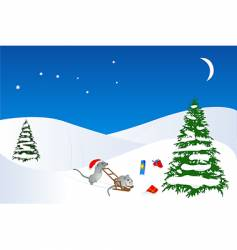 christmas and new year design vector image vector image