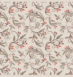 christmas seamless pattern with mistletoe vector image