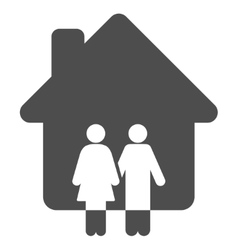 Family house flat icon vector