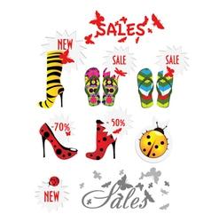 fashion sales vector image vector image