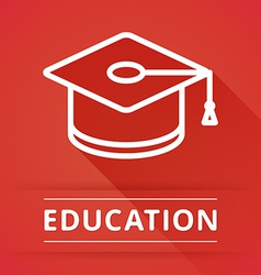 Flat design concept icons for education vector image