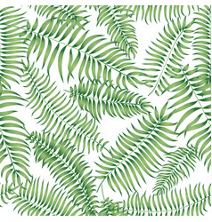 Floral geomtric tile pattern tropical leaves vector