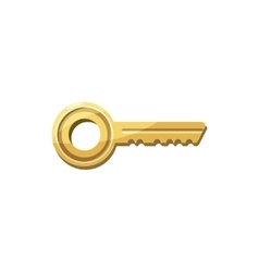 Golden key icon cartoon style vector image