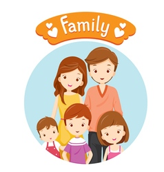 Happy Family Portrait vector image