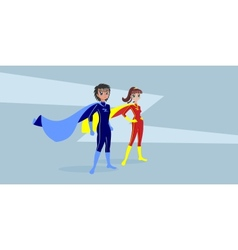 Heroes vector image vector image
