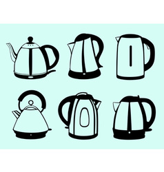 Kettle set vector image