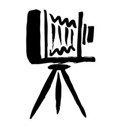 Large format camera hand drawn vector