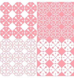 Linear Indian Lotus Pattern vector image