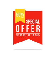 price label spesial offer sale promo vector image