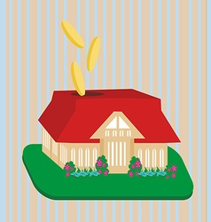 Putting your money where it counts with home vector image