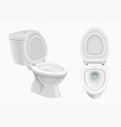 Realistic toilet bowl mockup 3d white toilet vector