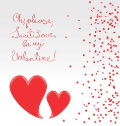 Sweet plea of valentine vector image vector image