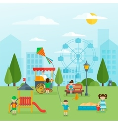 Playground flat concept vector