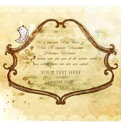 Rustic Invitation vector image