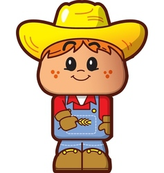 Cute farmer vector
