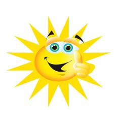 thumbs up sun vector image