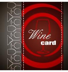 Wine card design vector image