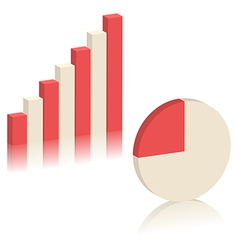 Bar chart and pie chart vector image