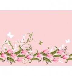 Tulips background vector