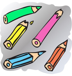Broken pencils vector