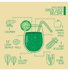 Deep green green juice recipes great detoxify vector