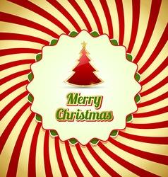 Merry christmas badge vector