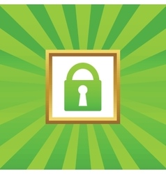 Locked picture icon vector