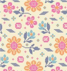 floral fair isle vector image