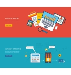 Set of flat design concept icons for web and vector