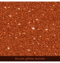 Bronze glitter texture or background vector