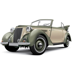 European prewar luxury convertible vector