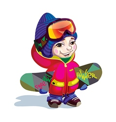 Cartoon snowboarder vector