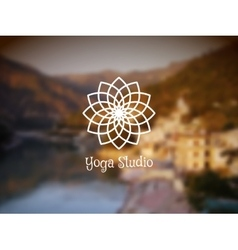 Yoga Studio Logo Template vector image