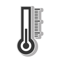 Thermometer temperature measurement vector