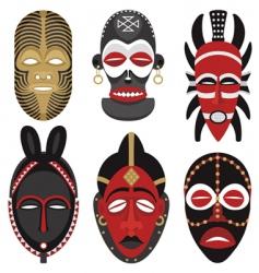 African masks vector