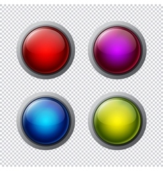 Big buttons vector image