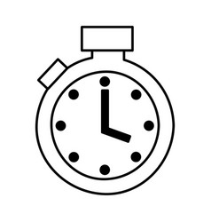 chronometer watch isolated icon vector image vector image