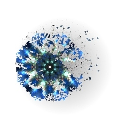 Colorful shape molecular construction vector