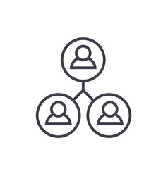 community users line icon sign vector image