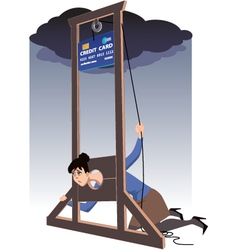 Credit card guillotine vector image