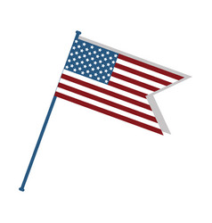 Cute flag of usa to celebrate patriotism vector