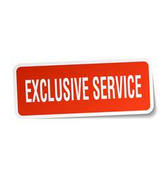 Exclusive service square sticker on white vector