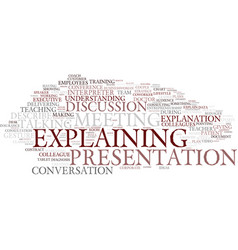 explaining word cloud concept vector image