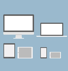 Flat device mockups vector image vector image