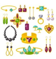Flat jewelry stones vector image
