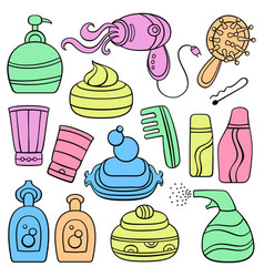 Icon set make up beauty and fashion supplies vector
