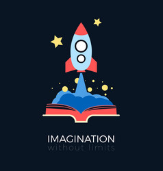 Imagination space exploration vector