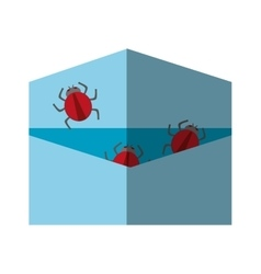 Isolated bug and envelope design vector