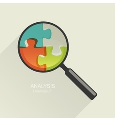 Magnifier and puzzle vector image